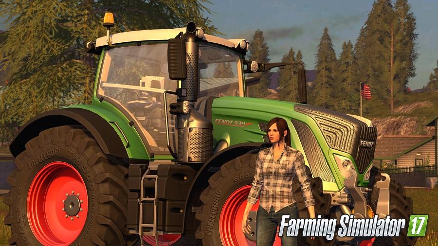 Farming Simulator 17 female farmer tractor