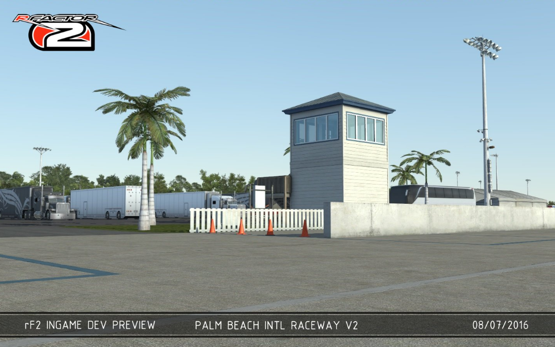 rFactor 2 Palam Beach International Raceway version 2 v2 work in progress screenshots preview