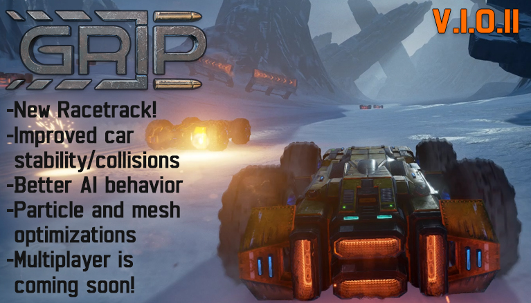 GRIP Steam Early Access update patch 1011