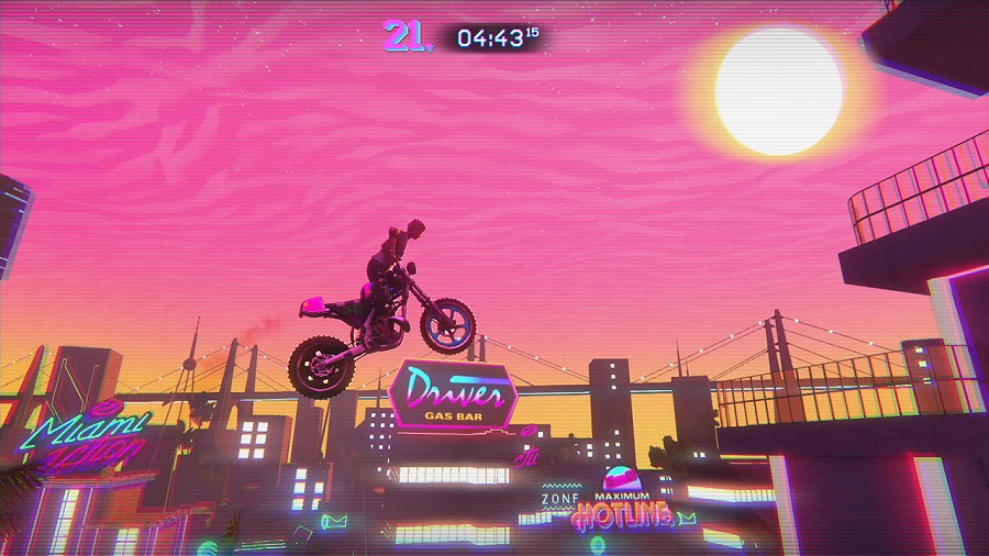 Trials of the blood dragon miami jump