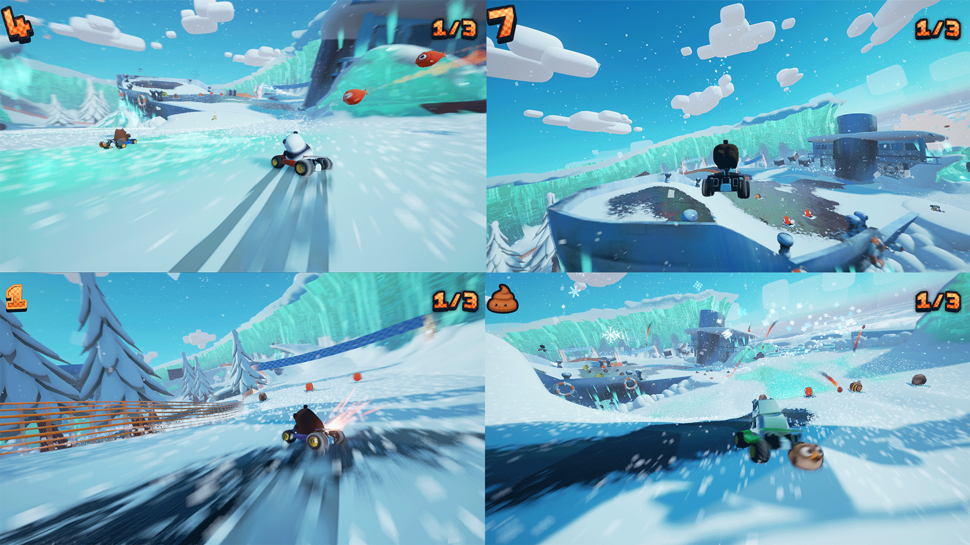 Bears Can't Drift!? brings back four player split screen in kart racing games