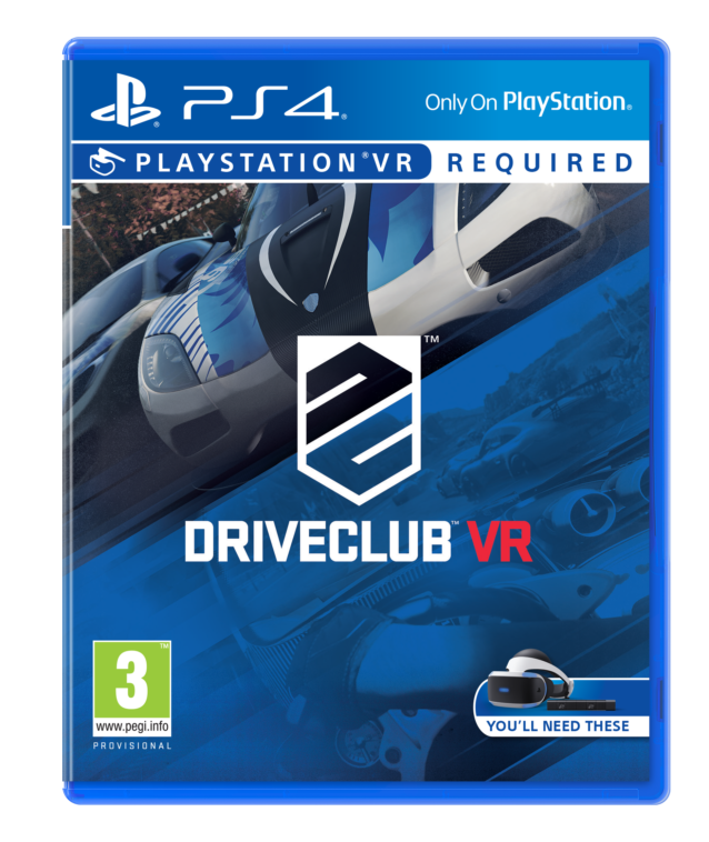 DriveClub VR PS4 box art