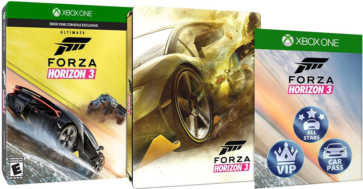 Forza Horizon 3 Ultimate Edition includes stunning steelbook