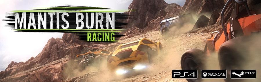 Mantis Burn Racing main art pc ps4 xbox one retro top down racer