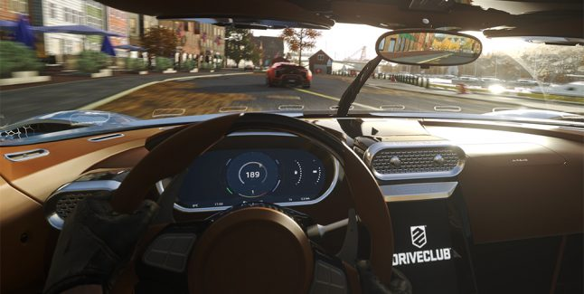 driveclub vr virtual reality psvr playstation vr headset cockpit view