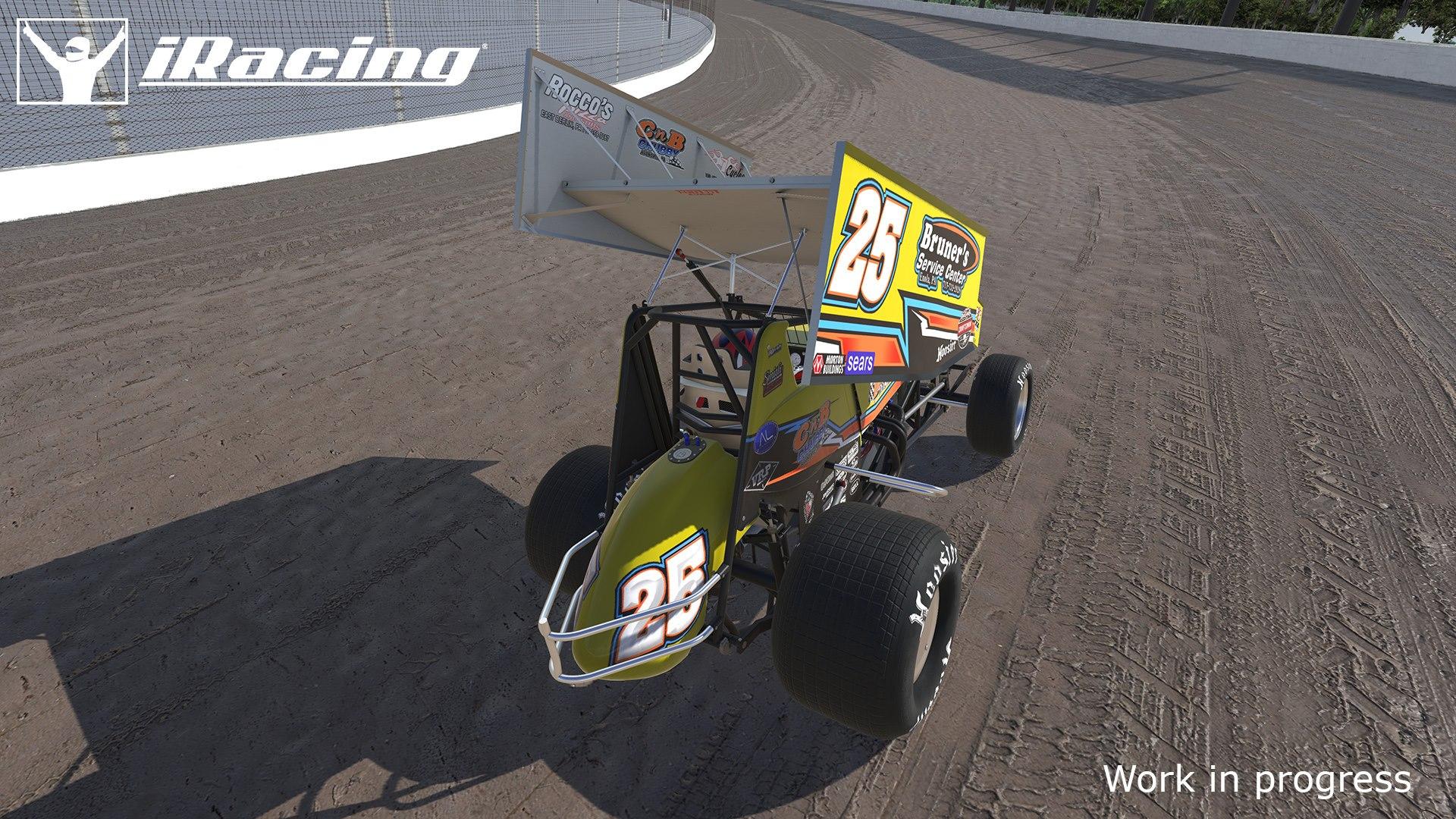 iRacing dirt sprint car eldora dirt speedway