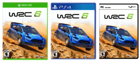 WRC 6 cover art ford fiesta xbox one pc ps4