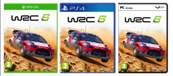 WRC 6 cover art xbox one pc ps4 citroen ds3