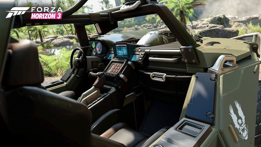 Halo 5 Wartog Forza Horizon 3 off road vehicle cockpit jungle