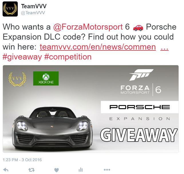 Forza Motorsport 6 Porsche Expansion competition