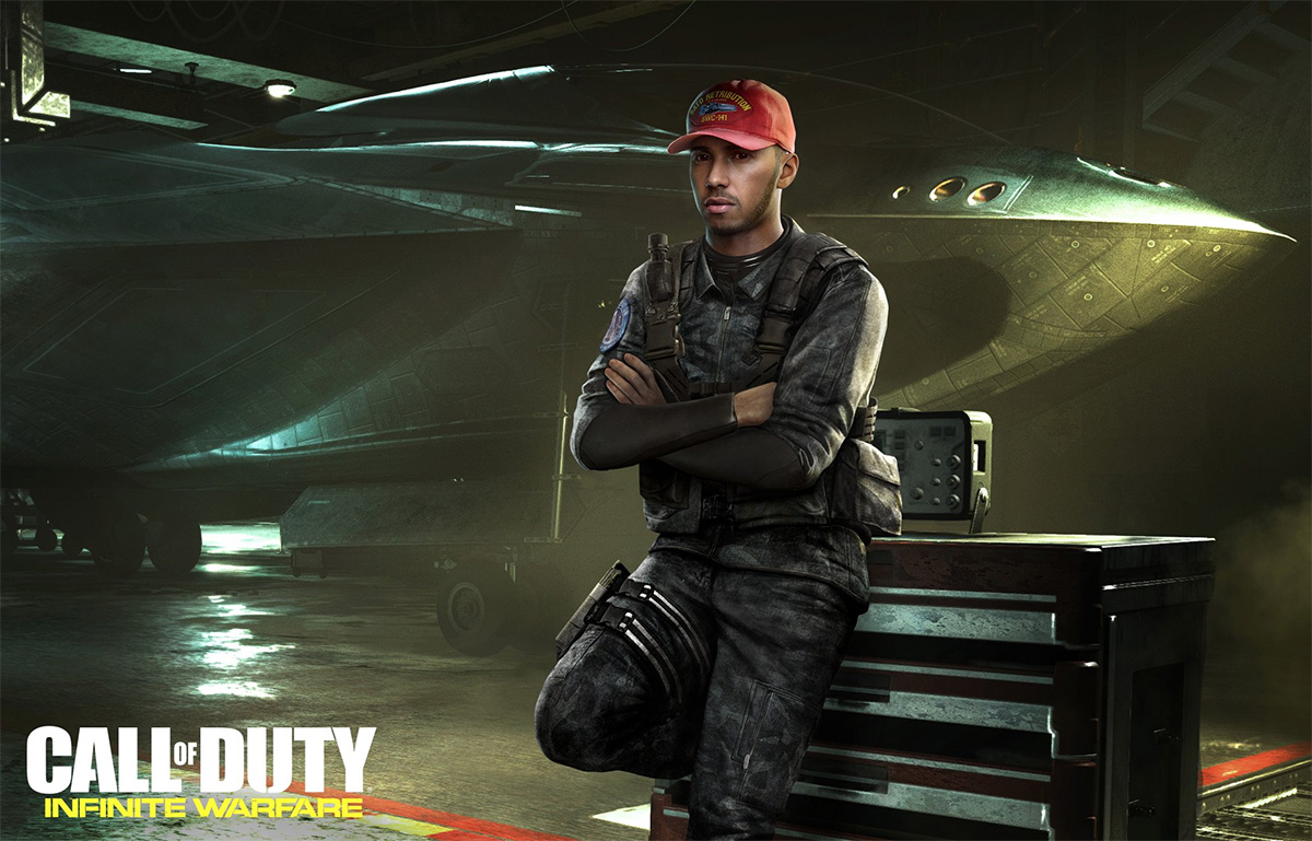 Lewis Hamilton appearing in Call of Duty Infinite Warfare