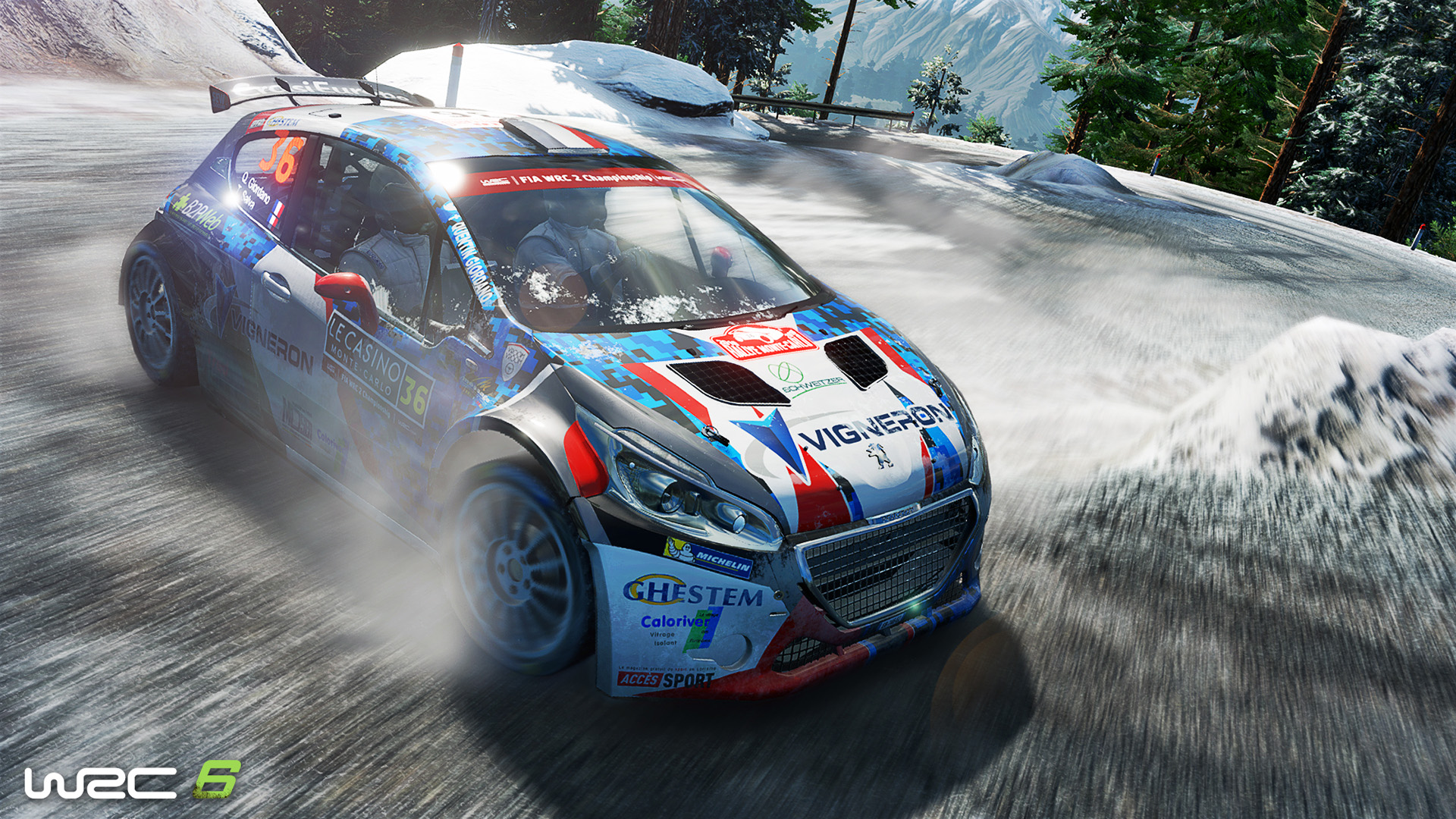 WRC 6 Peugeot 208 snow stage