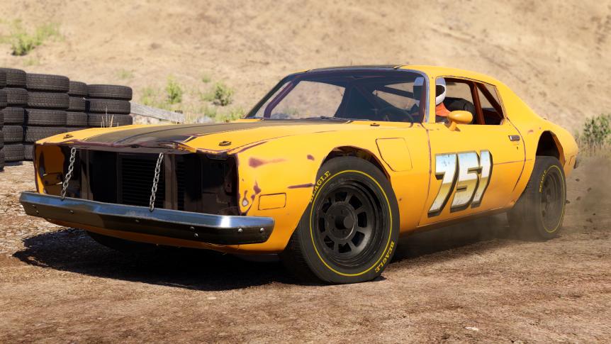 Stuntfest Next Car Game technology demo wreckfest santa lawnmower