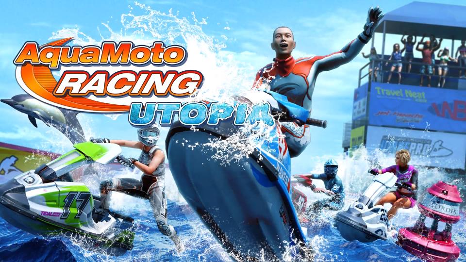 aqua moto racing utopia logo pc ps4 water racer main art