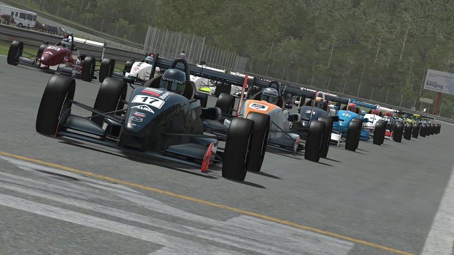 rfactor 2 usf 2000 cooper tires open wheeler car formula grid start
