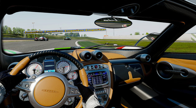 project cars vr pagani cockpit view