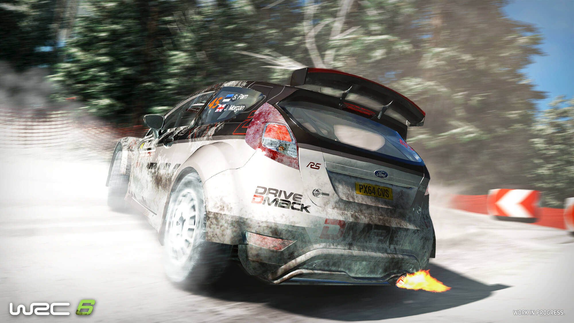 WRC 6 Ford Fiesta snow screenshot