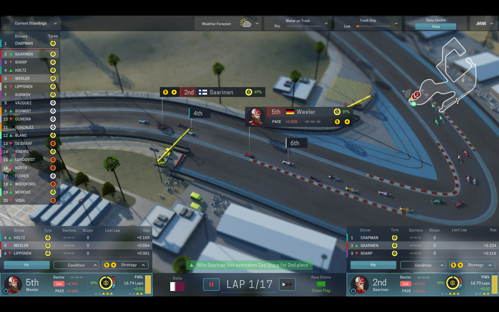 Motorsport Manager race screenshot