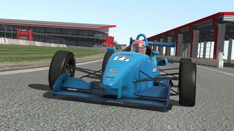 rFactor 2 open wheel formula car