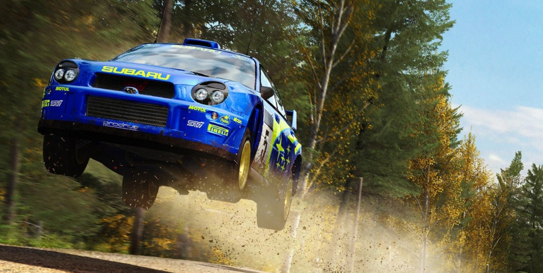 DiRT Rally Subaru Impreza jump