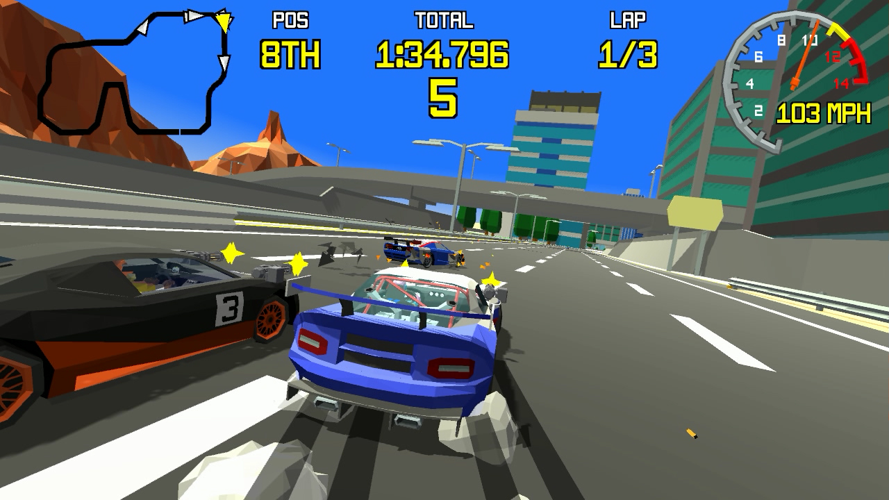 Retro-inspired polygonal racer Racing Apex coming to Switch