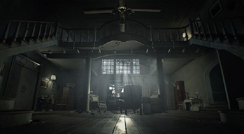 resident evil VII baker family mansion main hall
