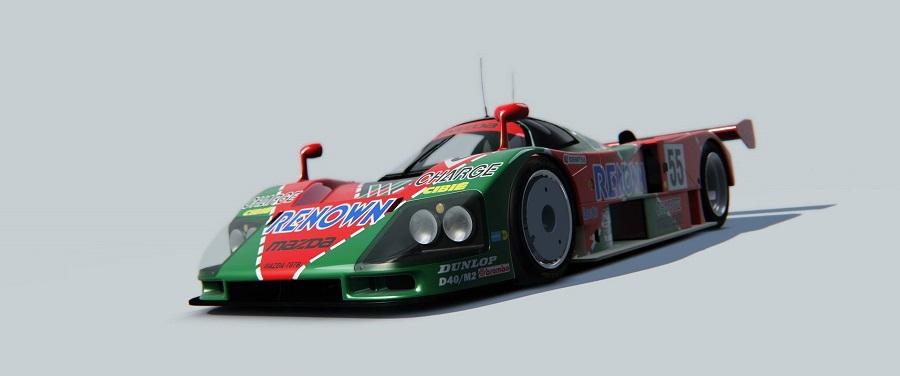 mazda 787b lmp1 racing car renown livery
