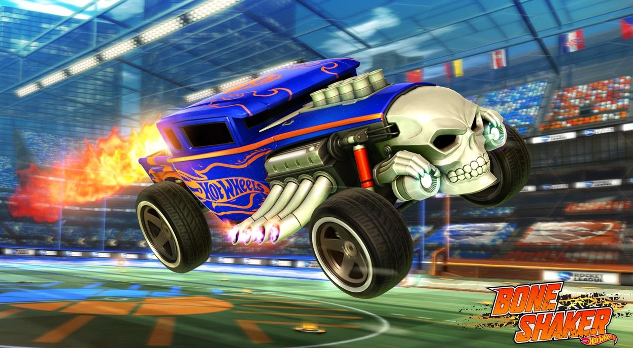 rocket league hot wheels dlc bone shaker vehicle