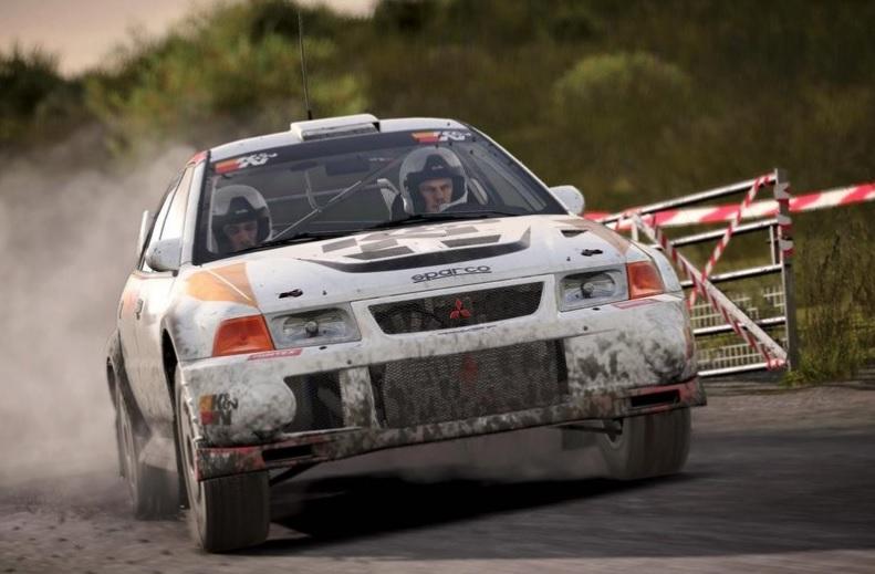 DiRT 4 Mitsubishi Lancer Evolution rally car