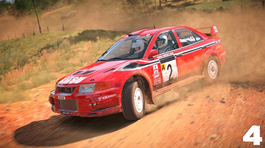dirt 4 australia mitsubishi lancer evolution vi rally car