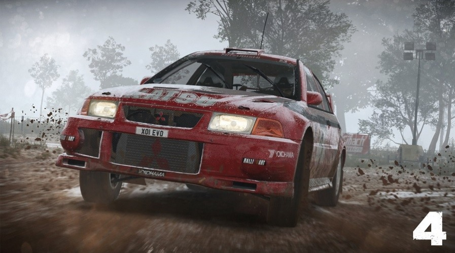 dirt 4 mitsubishi lancer evolution 6 rally car