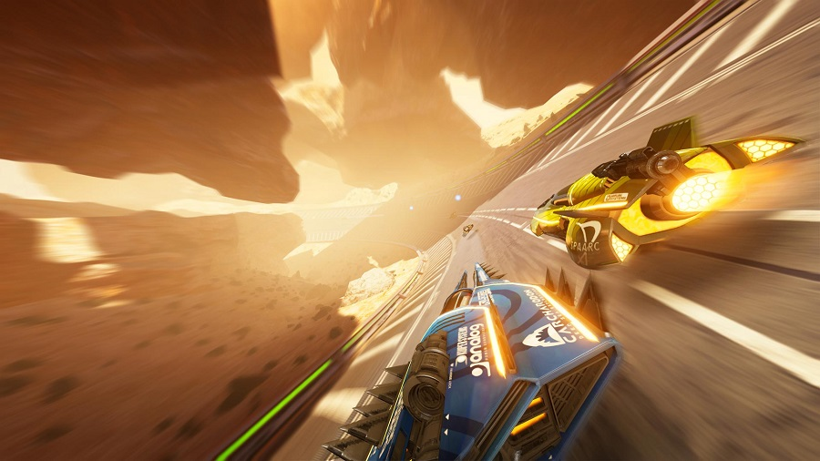 fast rmx nintendo switch sequel shinen multimedia futuristic racer logo