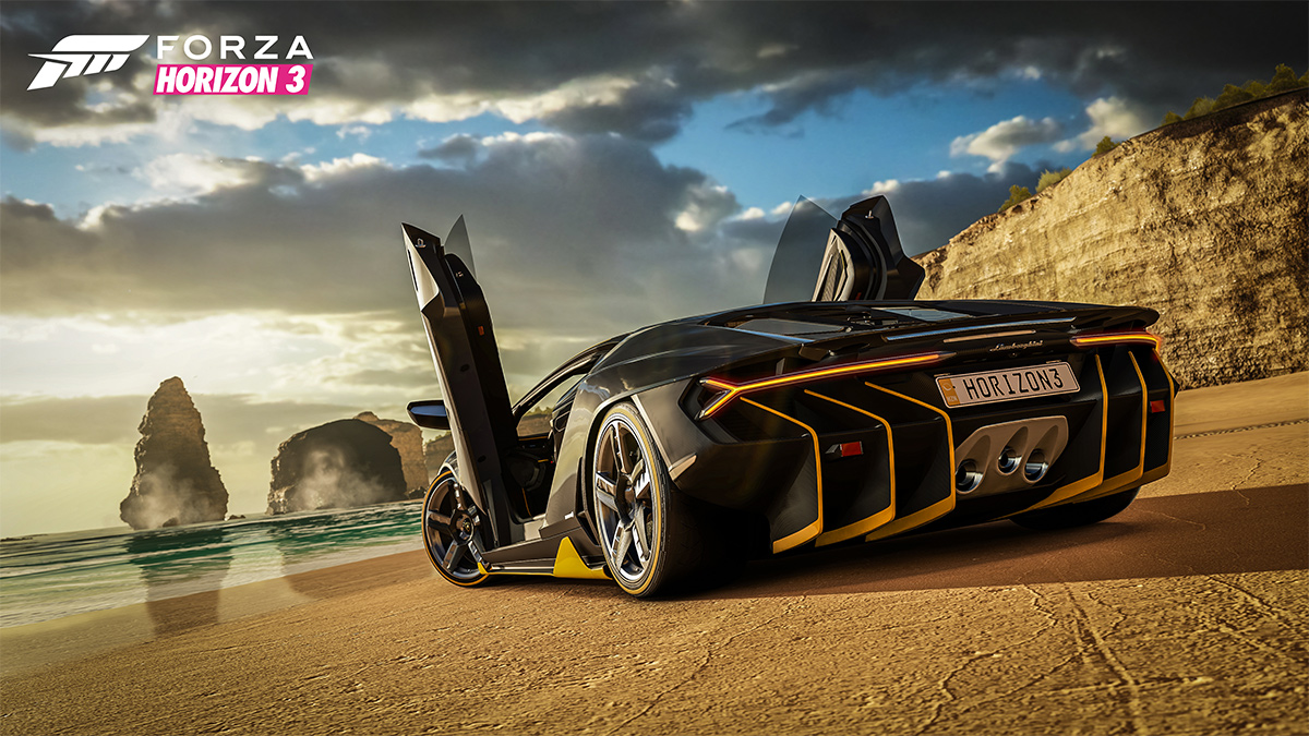 Forza Horizon 3 Lamborghini Centenario beach screenshot
