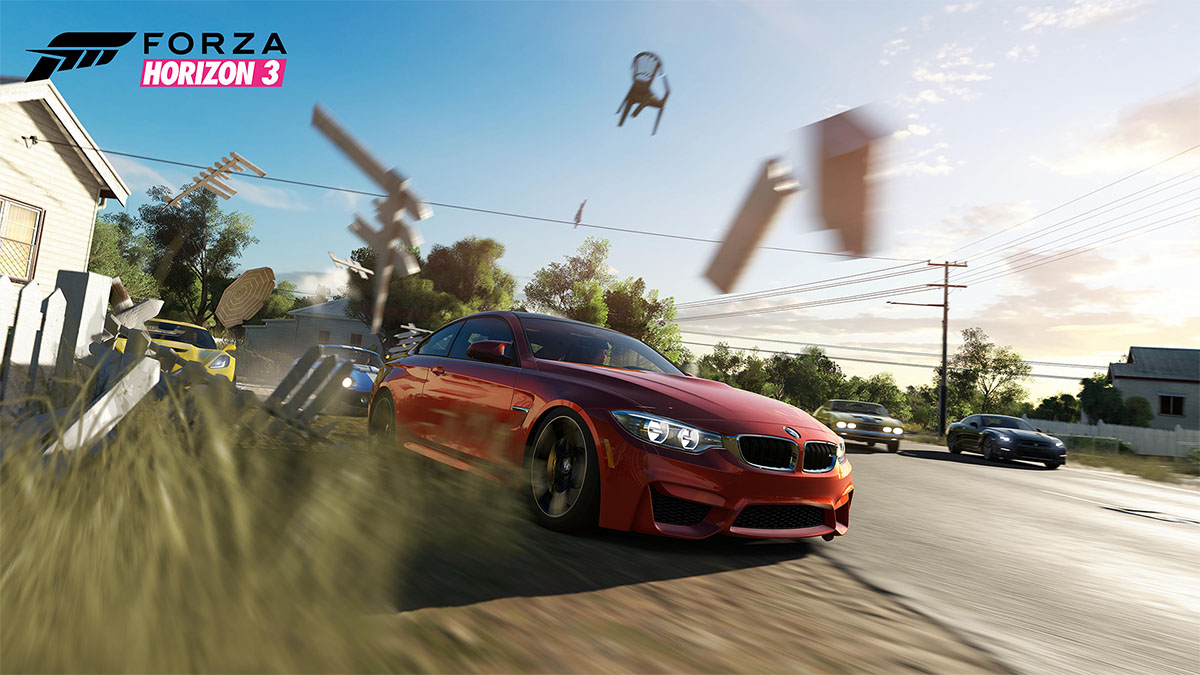 Forza Horizon 3 screenshot BMW scenery destruction