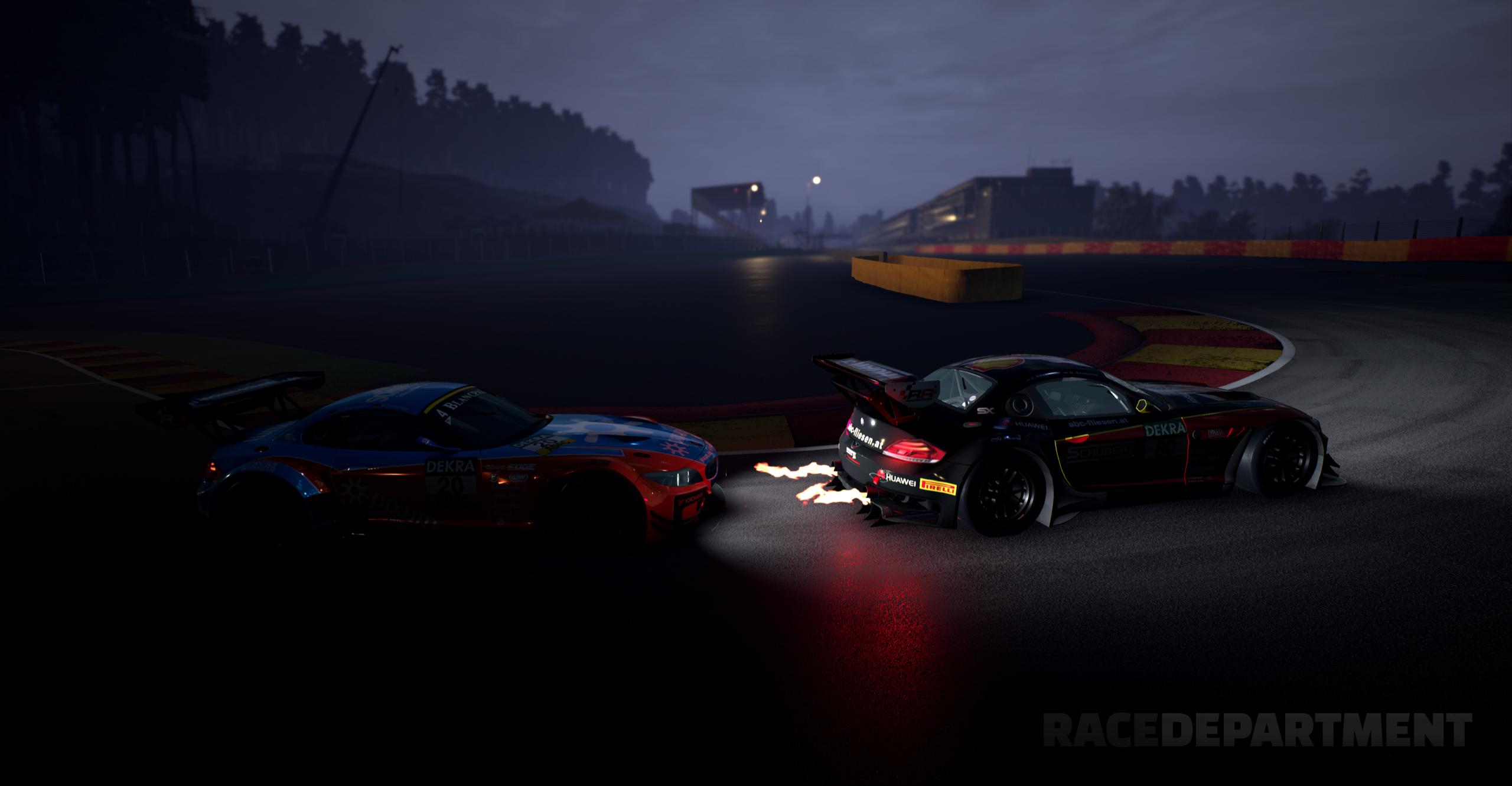 GTR 3 simbin studios screenshot night racing