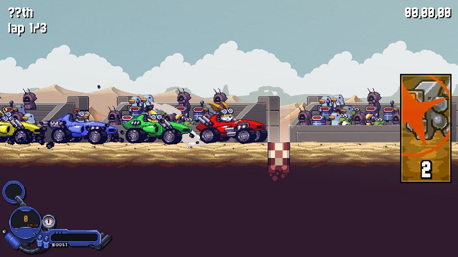intergalactic road warriors pc version steam 2d scrolling racing game