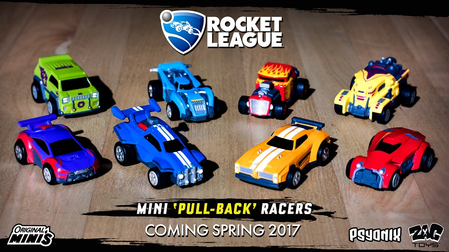 rocket league pull back toys
