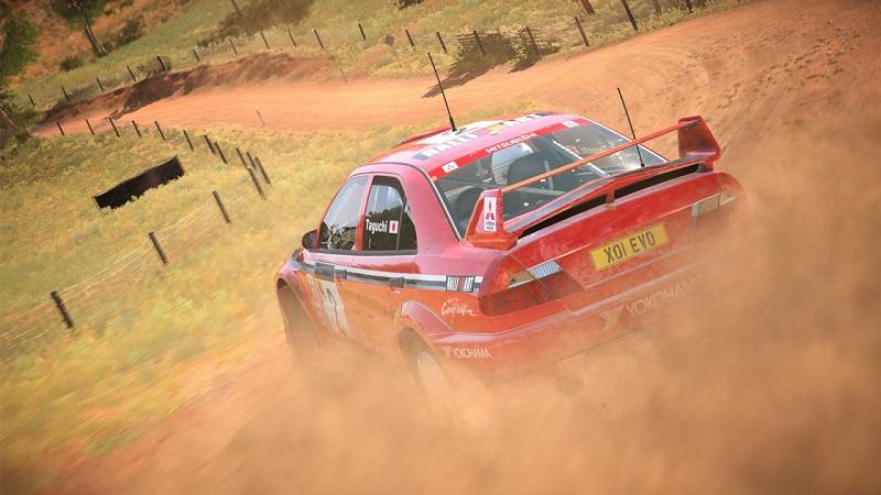 dirt 4 mitsubishi lancer evolution vi rally car