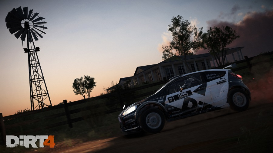 dirt 4 ford fiesta rally car australia evening