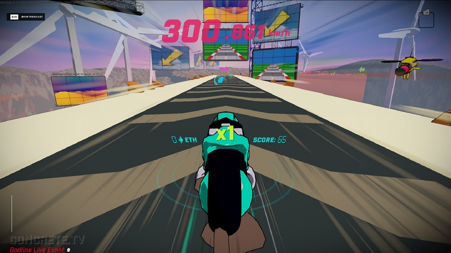 hyperun indie racing game procedurally generated track endless