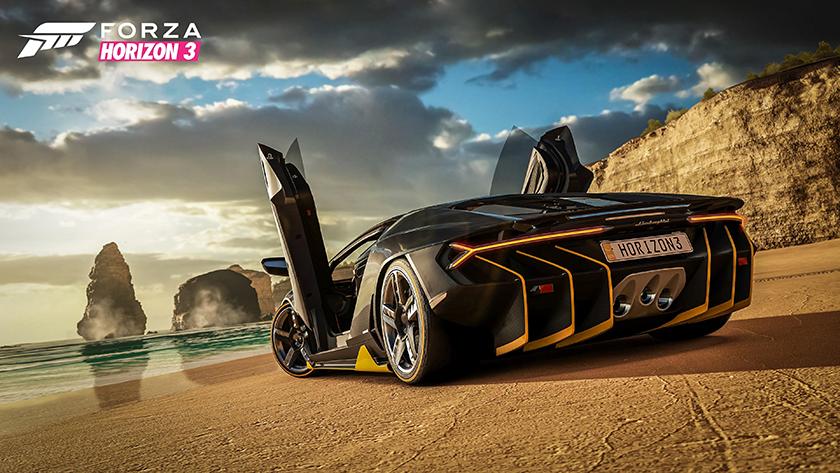 Forza Horizon 3 Lamborghini Centenario beach