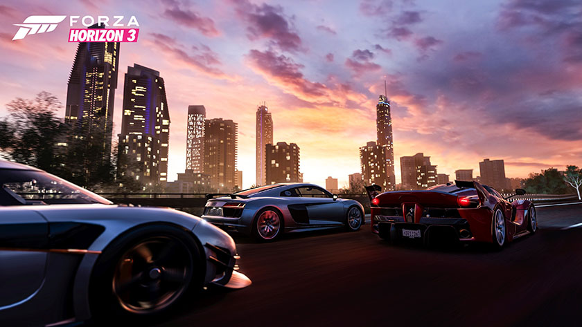 Forza Horizon 3 Australia city skyline