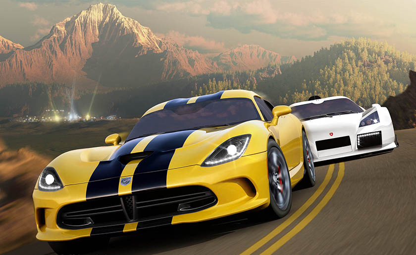 Forza Horizon Xbox 360 artwork SRT Viper