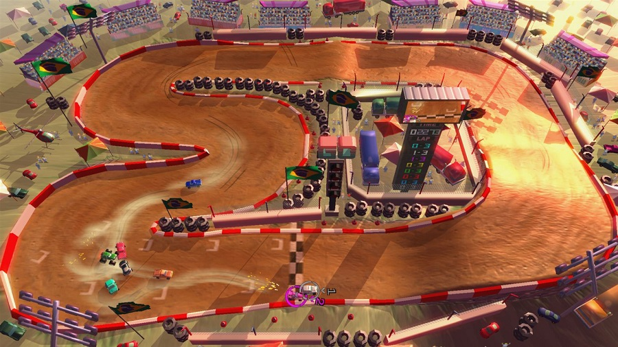 Rock N Racing Off Road DX crashing AI