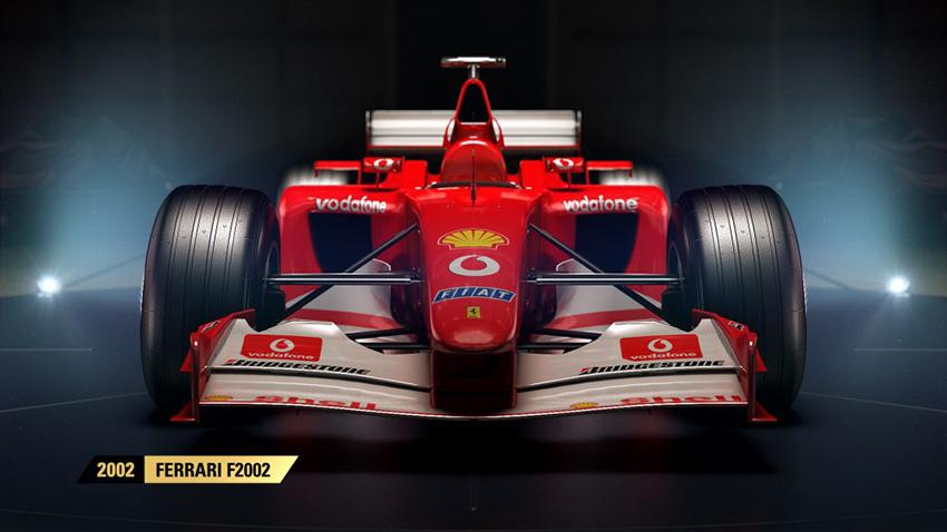 F1 2017 classic cars