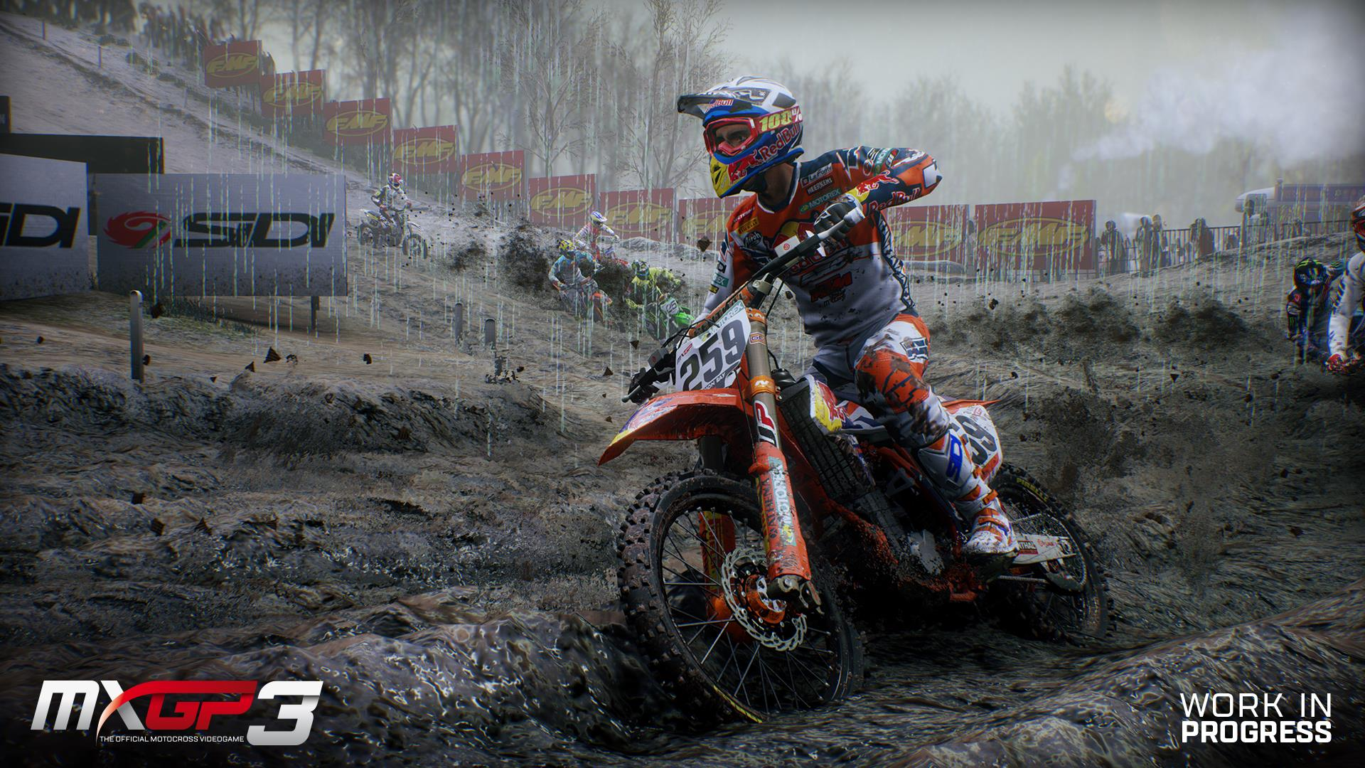 MXGP 3 screenshot dynamic rain
