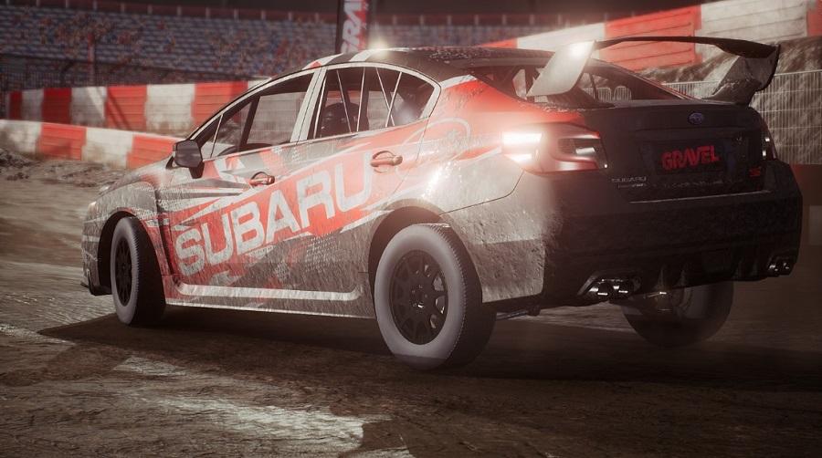 GRAVEL Subaru rally car