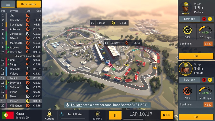 Motorsport Manager Mobile 2 races onto iOS devices today