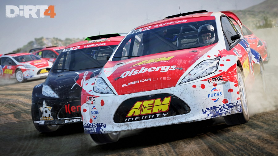 dirt 4 rx rallycross 1600 supercar lights