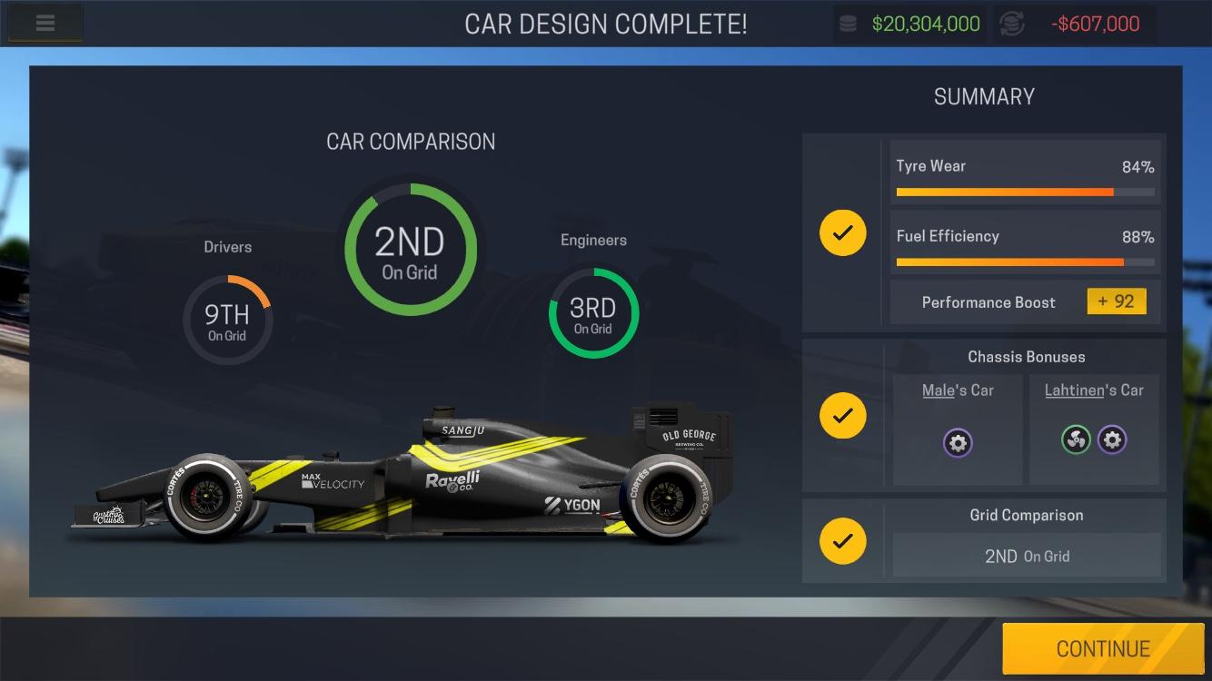 motorsport manager mobile 2 home car design